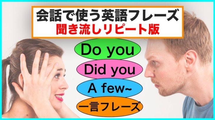 会話で使う英語フレーズ#4(聞き流しリピート練習)【Do you,Did you, 一言フレーズ, A few~】