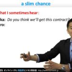 "Bizmates初級ビジネス英会話 Point 146 ""slim chance"""