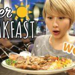 朝からステーキ?!アメリカの24時間ダイナーで朝食🌤🍴 〔#522〕