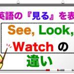 英語で『見る!』See, Look,Watchの違いは?