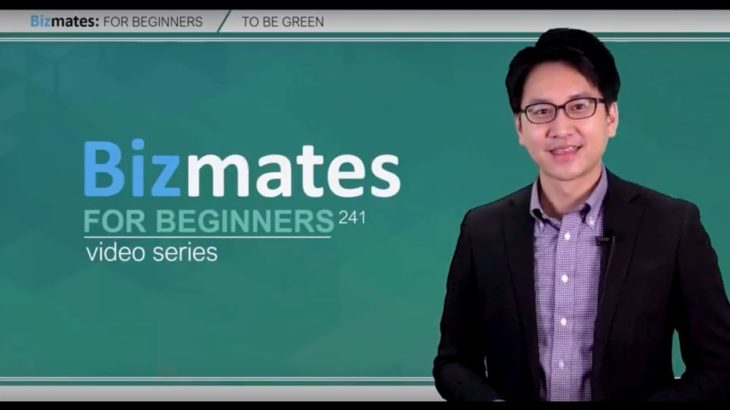 """Bizmates初級ビジネス英会話 Point 241 """"to be green"""""""