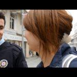 トルコは警察官まで親日!// Taking a selfie with a Turkish police officer〔# 237〕