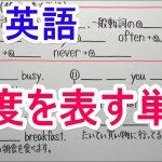 【英語】中1-19 頻度を表す単語