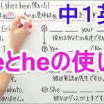 【英語】中1-7 sheとheの使い方
