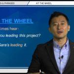 "Bizmates無料英語学習 Words & Phrases Tip 214 ""at the wheel"""