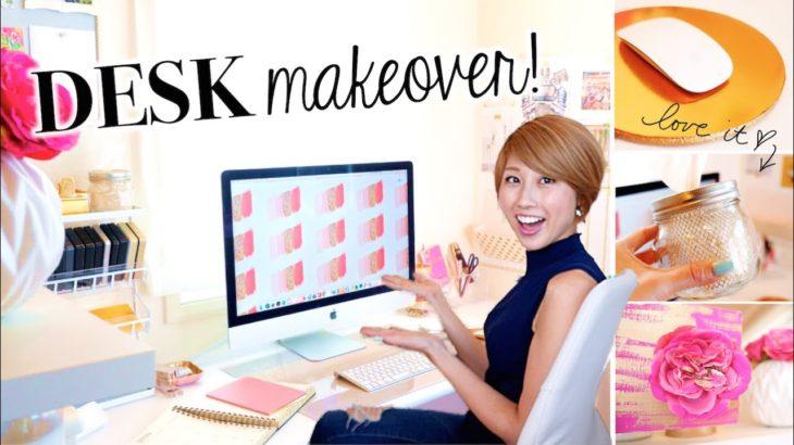 デスクDIY & おすすめグッズ / Desk Makeover!〔#458〕