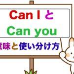 『Can I とCan you』 の違い、意味と使い分け方 <初心者の方でも簡単に使えるようになるレッスン動画>