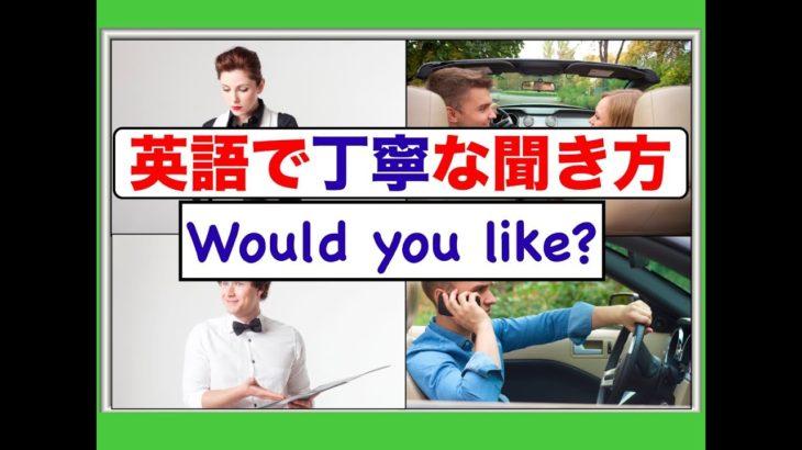 英語で丁寧な伺い方『Would you like』を使ったフレーズが身につくレッスン動画(ネイティブ音声スピーキンングとリスニング力アップ)