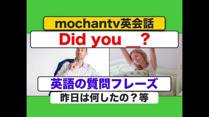 Did youを使った英語の質問フレーズ 初級(スピーキング力が身につく練習動画) 声に出して練習してみましょう!)