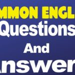 Common English Questions and Answers Learn English