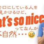 実はネイティブはあまり口にしない「That's so nice(すごいね)!」【#180】