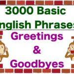 """Greetings & Goodbyes!"" 3000 Basic English Phrases"