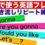 会話で使う英語フレーズ#8 (聞き流しリピート練習)【I'm gonna _., Are you gonna _ ?,Would you like?, 子供に使う英語フレーズ等】