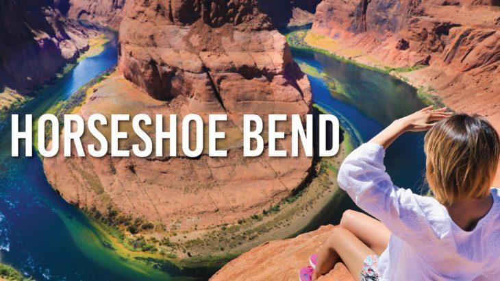 これはすごい!ドキドキする驚きの絶景!♡アリゾナのホースシュー・ベンド!Horseshoe Bend!〔#651〕【🇺🇸横断の旅 56】