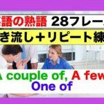 英語の熟語 A few, a couple of, one of 28フレーズ(聞き流しリピート練習+リスニング練習版)