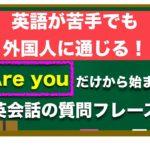 ⭐️特におすすめ!⭐️『Are you 』だけから始まる 英語が苦手でも簡単に外国人に通じる質問フレーズ!