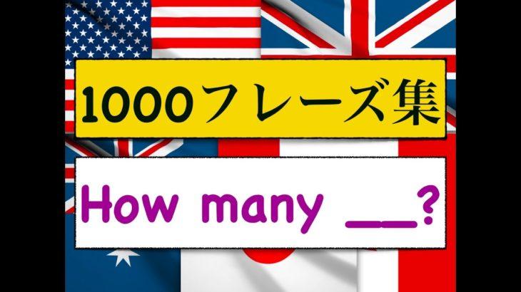 1000フレーズ集 「How many?」 何個・・?