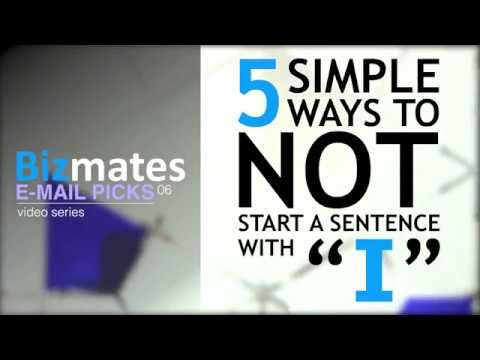 """「メールの文章が""""I""""から始まらないようにする5つの方法」 Bizmates E-mail Picks 6"""