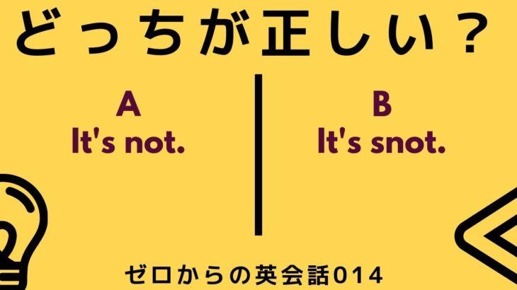 どっちが正しい英語?ゼロからの英会話-ZE-014