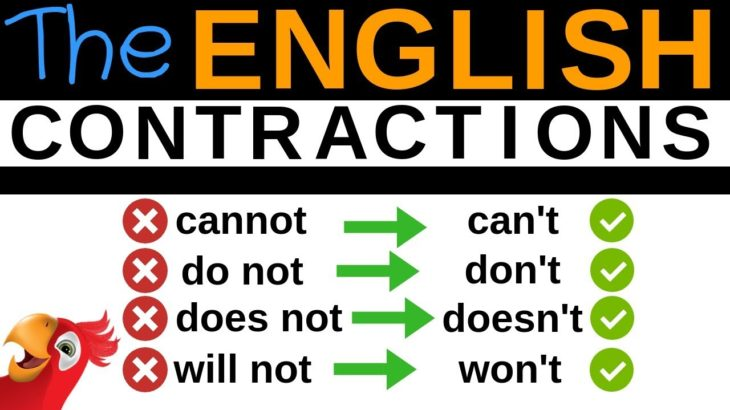 100 ENGLISH CONTRACTIONS ||| Speak Better English ||| Cannot, Can't, Do not, Don't,…
