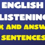 English Listening Ask and Answer Sentences