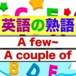 英語の熟語 A few~とA couple of~が身につく動画授業 (英会話スピーキングとリスニング練習)