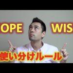 「Hope」と「Wish」の使い分けルール【#41】