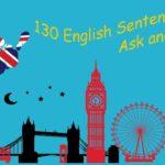 130 English Sentences – Ask and Answer