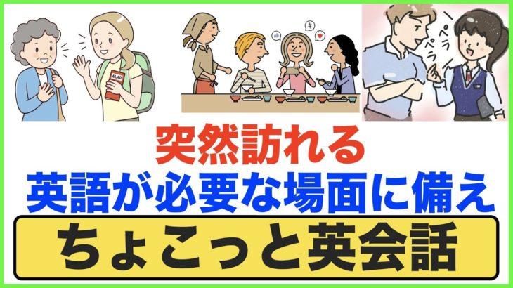 突然訪れる英語が必要な場面に備え【ちょこっと英会話】(011)