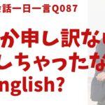 「申し訳ないことしちゃったな〜」は英語でなんて言うでしょう?ネイティブ発音と英語表現が身につく英語英会話一日一言-Q087
