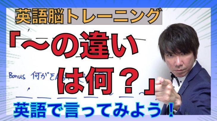 英語脳トレーニング 「〜の違いは何?」と英語で言えますか? PG151