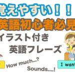 これ覚えやすい!!英語初心者必見!!【イラスト付き英語フレーズ】シリーズ010