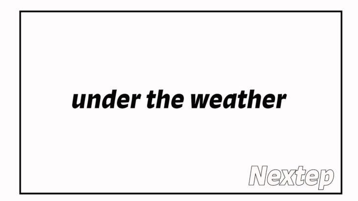 【1分英会話イディオム】under the weather