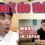 """Japanese reacts to """"12 Things NOT to do in Japan"""""""
