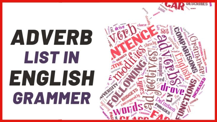What Is An Adverb? Adverb List in English Grammer
